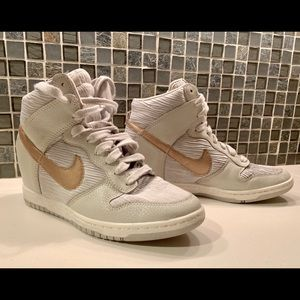 Nike Dunk Sky Hi Hidden Wedge Bone Rose Gold 8.5